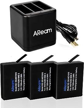 Amazon.com: Aream - Paquete de 3 baterías de repuesto para ...