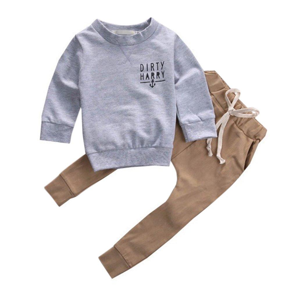 Alician Baby Boys Girls 2 PCS Clothing Set Anchor Sweatshirt Top and Pants