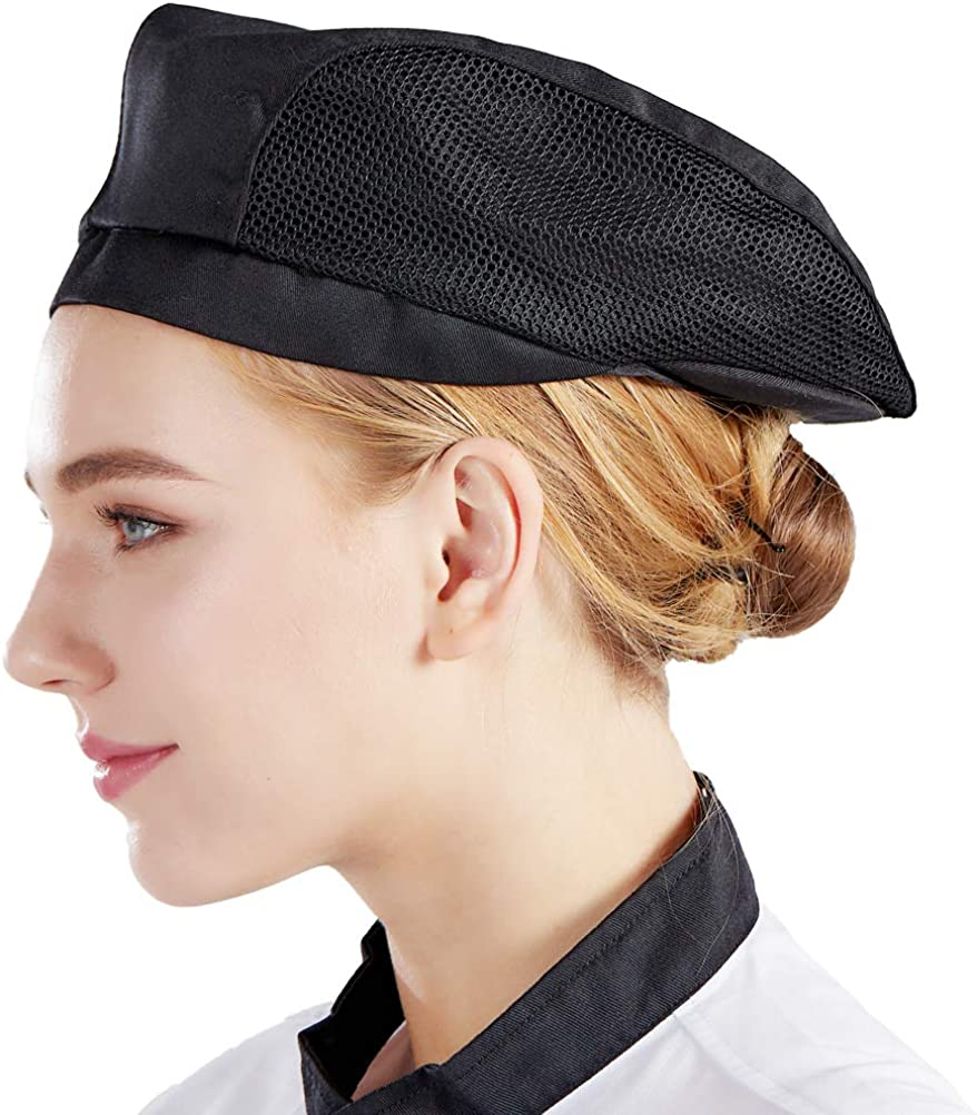 Nanxson Chef Hat Beret Restaurant Kitchen Cooking Mesh Chef Cap for Women Men CF9021