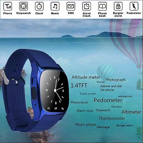 Reloj Inteligente Smartwatch Teléfono Android Inteligente Fitness Pulsera Podómetro Calorías Supervisión del sueño Notificaciones diarias Teléfono ...