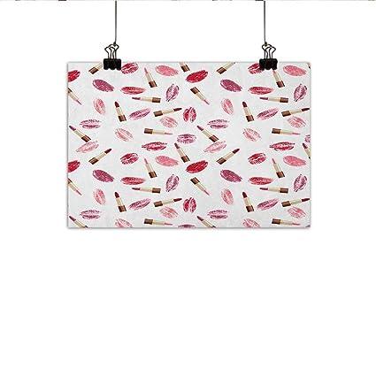 Amazon Com Cosmetics Abstract Painting Beauty Theme Pink
