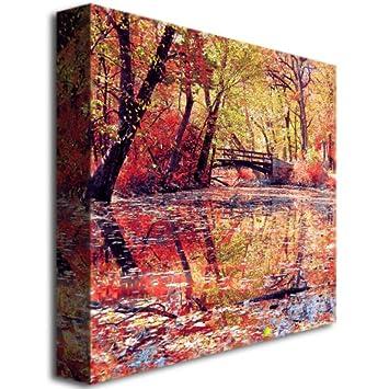 Monet s Garden by Beata Czyzowska Young, 24×24-Inch Canvas Wall Art
