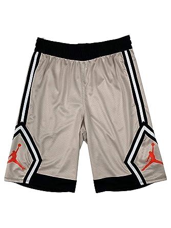 9663db02757d6 Jordan Mens Dri-Fit Rise Diamond Jumpman Basketball Shorts Beige/Tan ...