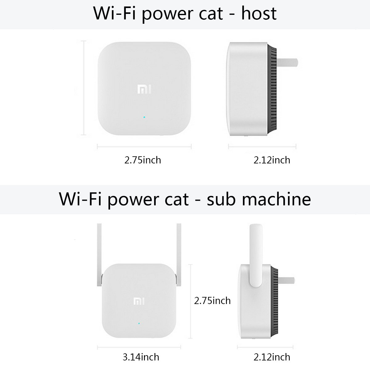 Amazon.com: Xiaomi Wi-Fi Repeater Electric Power Cat 2.4G Wireless Range Extender Router Access Point 300MPS Signal Amplifier (White): Computers & ...
