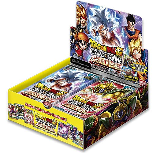 Image of Collectible Card Games Dragon Ball Super Card Games-Series 4-Colossal Warfare Pack of 24 Boosters, 605514, Yellow