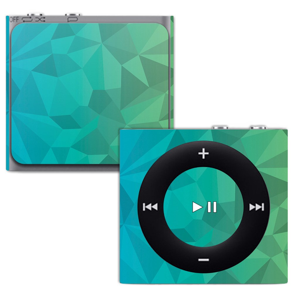 MightySkins Skin for Apple iPod Shuffle 4G - Blue Retro   Protective, Durable, and Unique Vinyl Decal wrap Cover   Easy to Apply, Remove, and Change Styles   Made in The USA