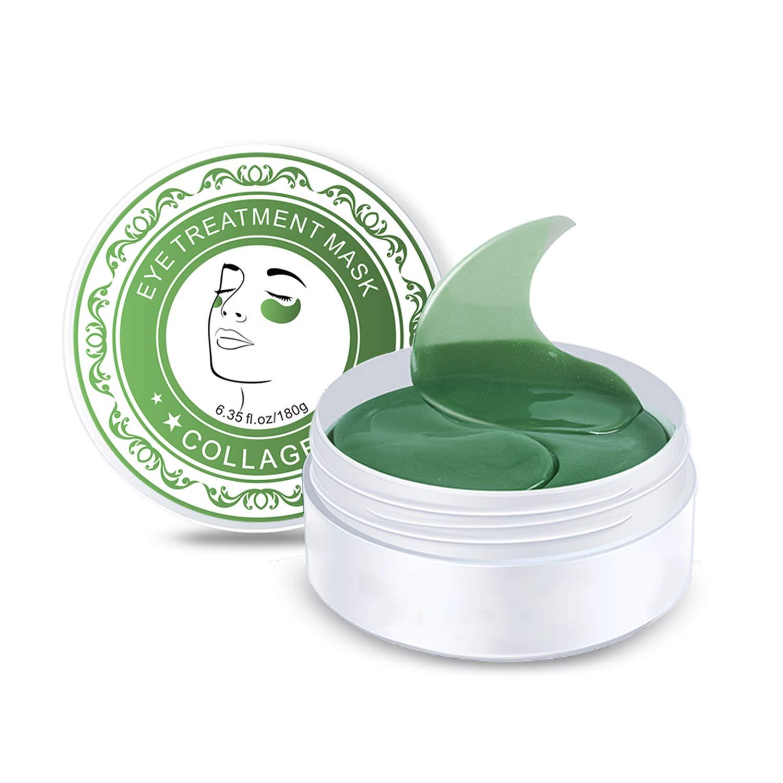 HailiCare Eye Treatment Masks, 30 Pairs Under Eye Pads Moisturizing Reduce Puffy Eye Wrinkles Dark Circles, Collagen Eye Mask Anti- Aging (Green) by HailiCare