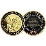 St. Michael Patron Saint of Police Officers Prayer Military Challenge Coin