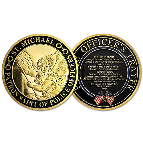 St. Michael Patron Saint of Police Officers Prayer Military Challenge Coin (Medal Coin Challenge)