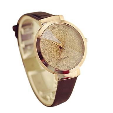 Coconano Relojes Mujer Baratos, Chica Luxury Sands Starry Simple Temperamento Reloj de Cuarzo: Amazon.es: Ropa y accesorios