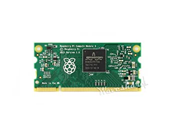 Waveshare Raspberry Pi Compute Module 3 Contains The Guts of a Raspberry Pi  3 4GB eMMC Flash 1 2GHz Quad-core ARM Cortex-A53 Processor