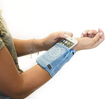 Sprigs Banjees 2 Pocket Wrist Wallet for Travel, Running, & Hiking