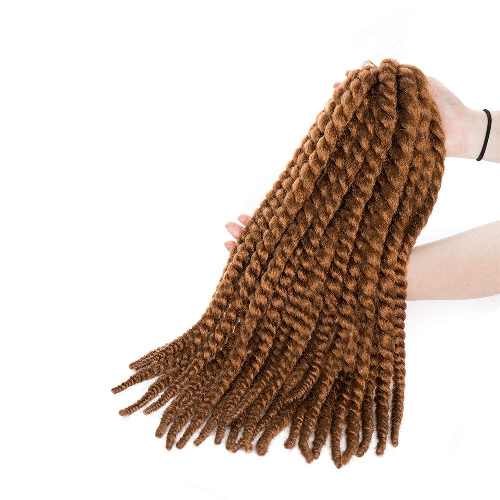18 Inch Dreadlocks Crochet Twist Braiding Hair Extensions Synthetic Deep Wavy Hairpieces Curly For Black Women - Dark Black Lady Outlet Mall