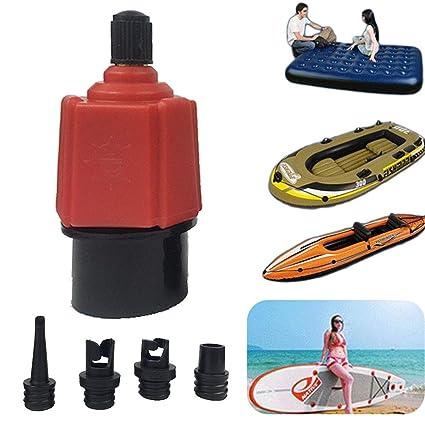 4 Nozzles Sup Pump Adapter Inflatable Boat Air Valve Adaptor Paddle Board Kayak