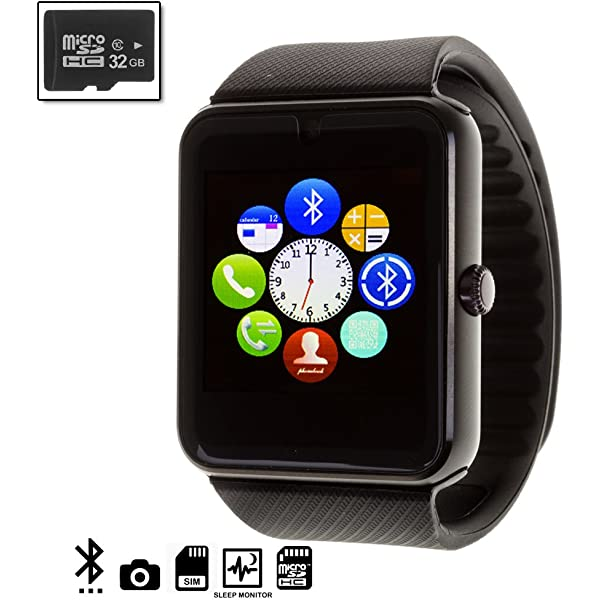 Silica DMQ237REDSD16 - Gt08 Bluetooth Watch con Micro SD de ...
