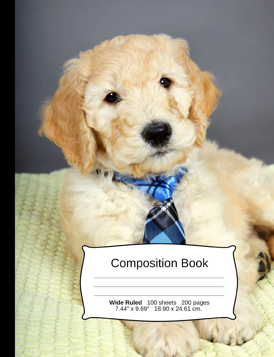Goldendoodle Composition Notebook A Wide Ruled Exercise