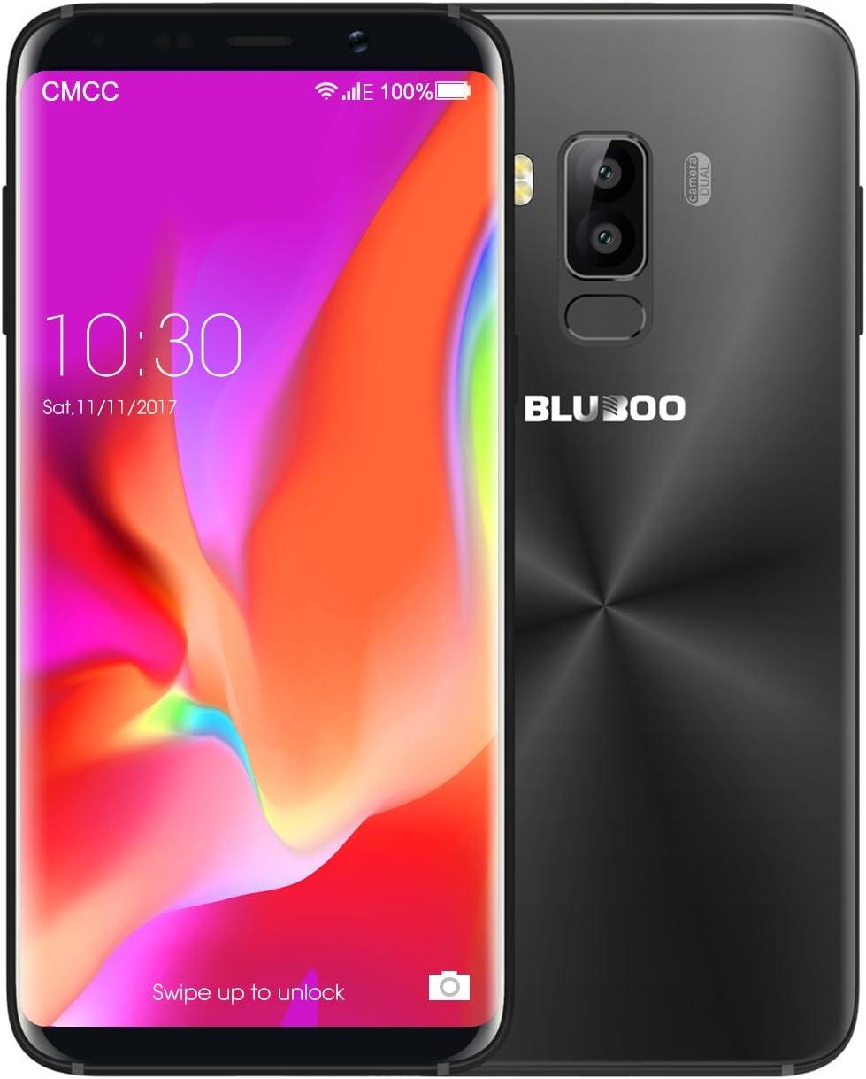 BLUBOO® S8 4G Smartphone Android 7.0 5.7 Pulgadas 18:9 Full Display, MTK6750 Octa Core, 3 GB RAM 32 GB ROM, 5.0MP + 13.0MP Cámara Interna, Type-C, 3450 mAh [Negro]: Amazon.es: Electrónica
