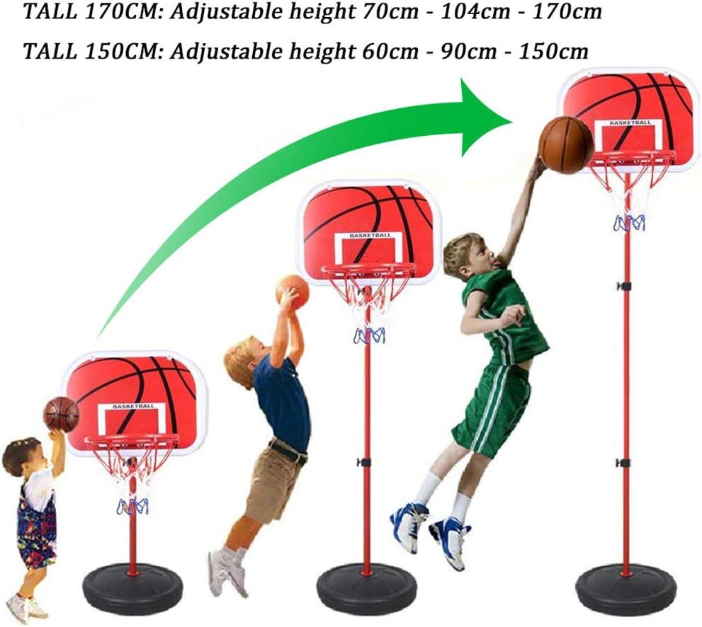 PELLOR Canasta Aro de Baloncesto Ajustable,150CM/170CM Aro de Blaconcesto con Balancesto para Niños y Infantils: Amazon.es: Deportes y aire libre