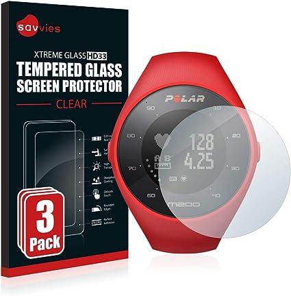 savvies Cristal Templado Compatible con Polar M200 (3 Unidades ...