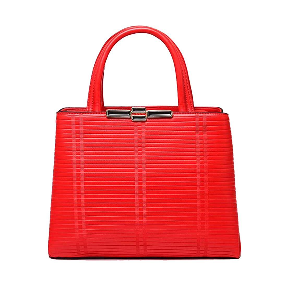 Red 11 Yan Show Women's PU Satchel Elegant Handbag Shoulder Bag Top Handle Bag Purse