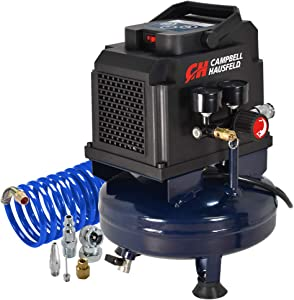 Campbell Hausfeld 1 Gallon Portable Air Compressor with Inflation Kit & Air Hose, w/Accessory Kit (DC010010E)
