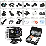 Image of DMYCO Action Camera 4K, Waterproof Sport Camera cam with 2.4GHz Wifi Remote Control 4K 30Fps 16MP Ultra HD 170 Degree Wide Angle Sport Helmet Bike Camera with 2.0 Inch LCD 20+ Accessories Kits