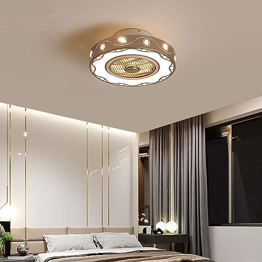 XDDY Ventilador Iluminacion Techo Lampara Regulable con Control ...
