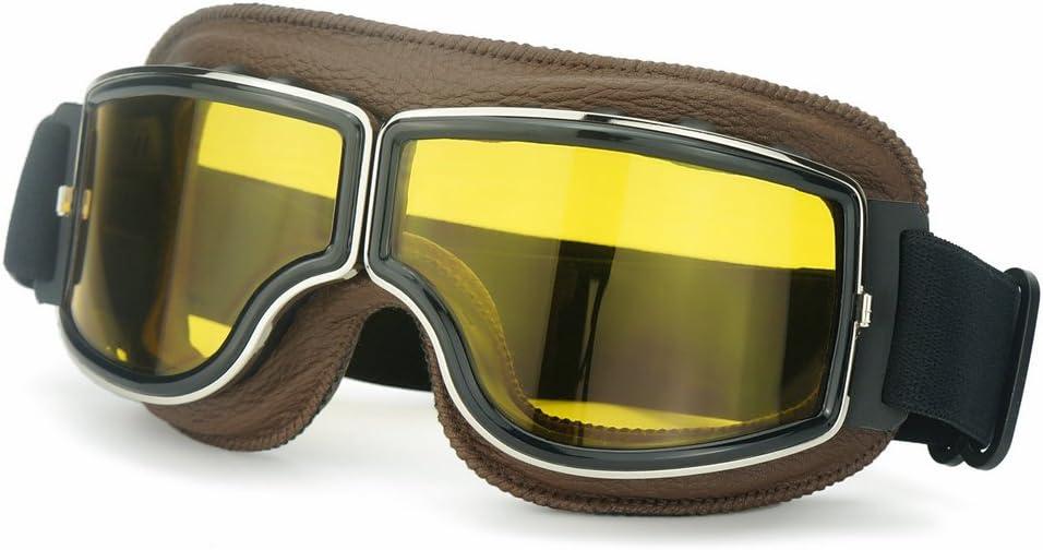 Heinmo Motocross Aviator Ski Motorcycle Scooter Goggles Retro Helmet Goggle For Harley Auto