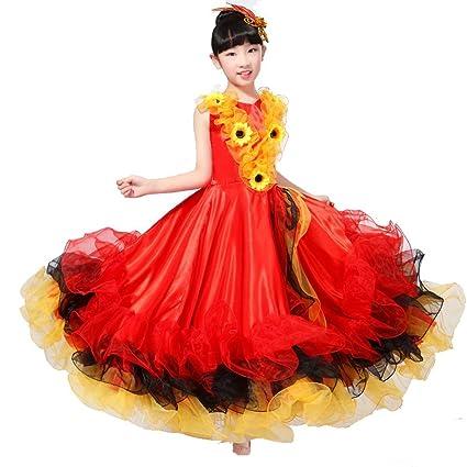 Wgwioo Niños Vestidos De Flamenco Muestran La Falda De Traje ...