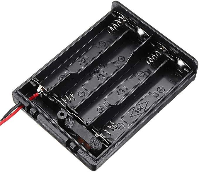 Beacher Ameli Kit para Arduino 4 Ranuras NO.7 AAA Caja de batería ...