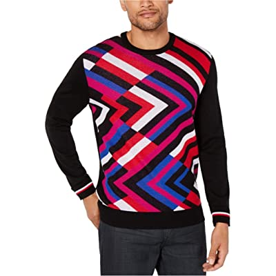Alfani Mens Zig-Zag Crew Neck Sweater at Men's Clothing store