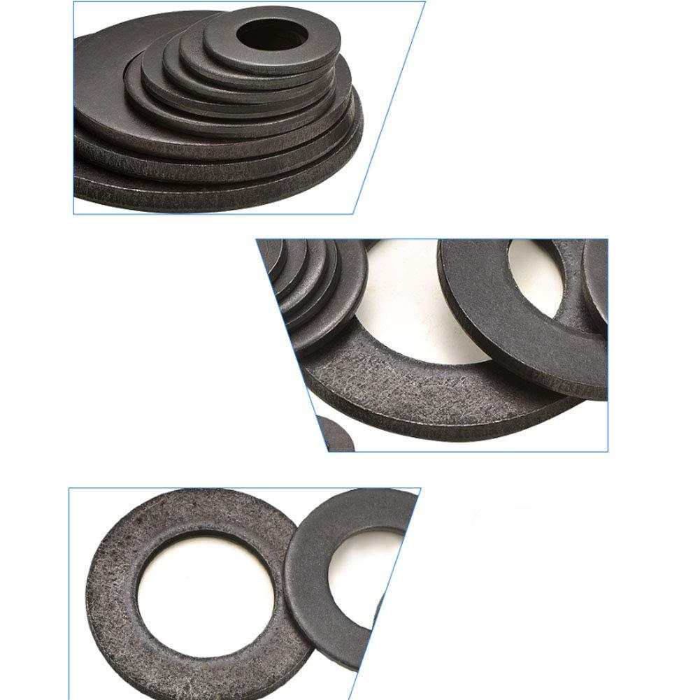 Yudesun Tornillos Arandelas Planas Acero al Carbono Arandelas de Metal Espaciadores Mes/ón M/áquina Sujetador Componentes M6-M36