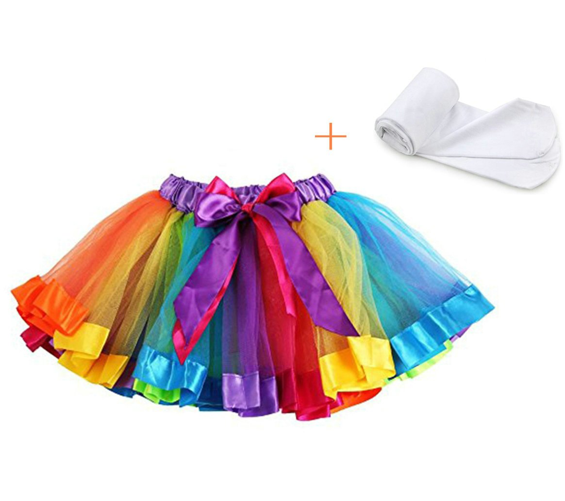 belababy Girls Skirt Rainbow Tutu for Toddler Dress up PJ-SK08