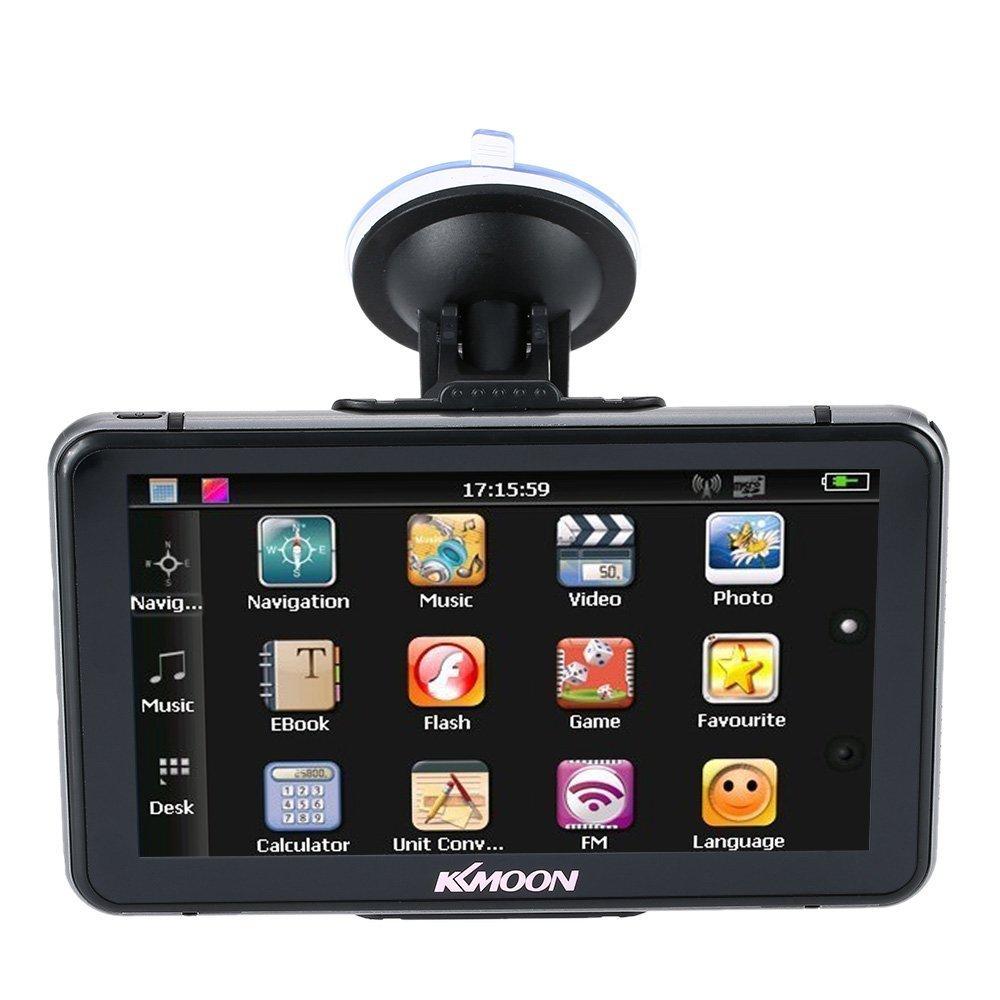 KKmoon 7 Pollici HD Toccare Schermo Portatile GPS Navigatore 128MB RAM 4GB ROM FM MP3 Video Lettore Auto Divertimento Sistema con Grafia Penna +Gratuito Mappa