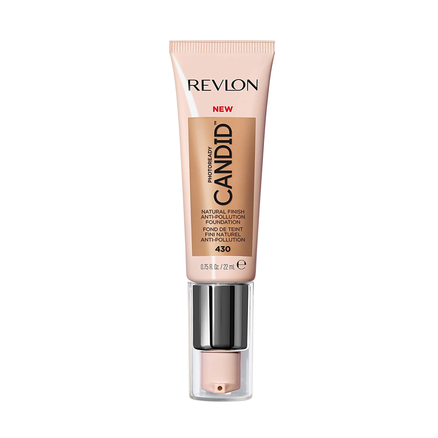 Revlon PhotoReady Candid Natural Finish Foundation, with Anti-Pollution, Antioxidant, Anti-Blue Light Ingredients, without Parabens, Pthalates and Fragrances; Honey Beige.75 Fluid Oz