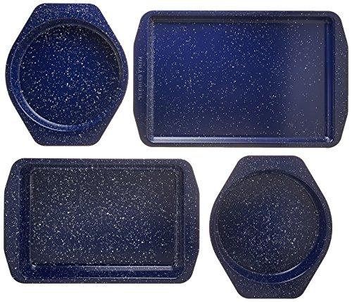 (Paula Deen 46812 Nonstick Bakeware Set, Deep Sea Blue Speckle)
