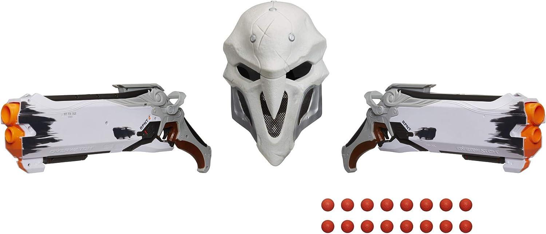 Overwatch- Reaper (edición de Peso) Paquete de coleccionista con 2 Pistolas, 1 máscara Facial y 16 Rondas Nerf Rival, Multicolor (Hasbro E3119102): Amazon.es: Juguetes y juegos