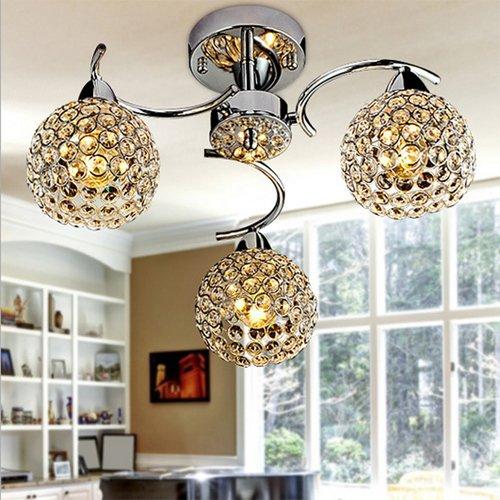 Luminaires Interieur Metal Cristal Plafonniers Moderne
