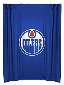Nhl Edmonton Oilers Shower Curtain Hockey Bath Accessory Amazon