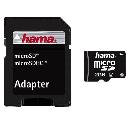 Hama - microSD 2GB Class 2 & Adapter, 2048 MB, Micro Secure ...