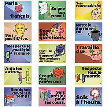 Amazon.com: Sentido Común Reglas Francés mini-poster Set ...