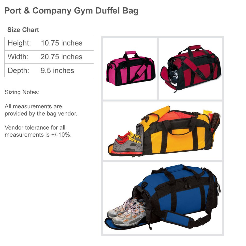 Gabriela Dance Bag Gift: Port & Company Gym Duffel Bag by FUNNYSHIRTS.ORG (Image #3)