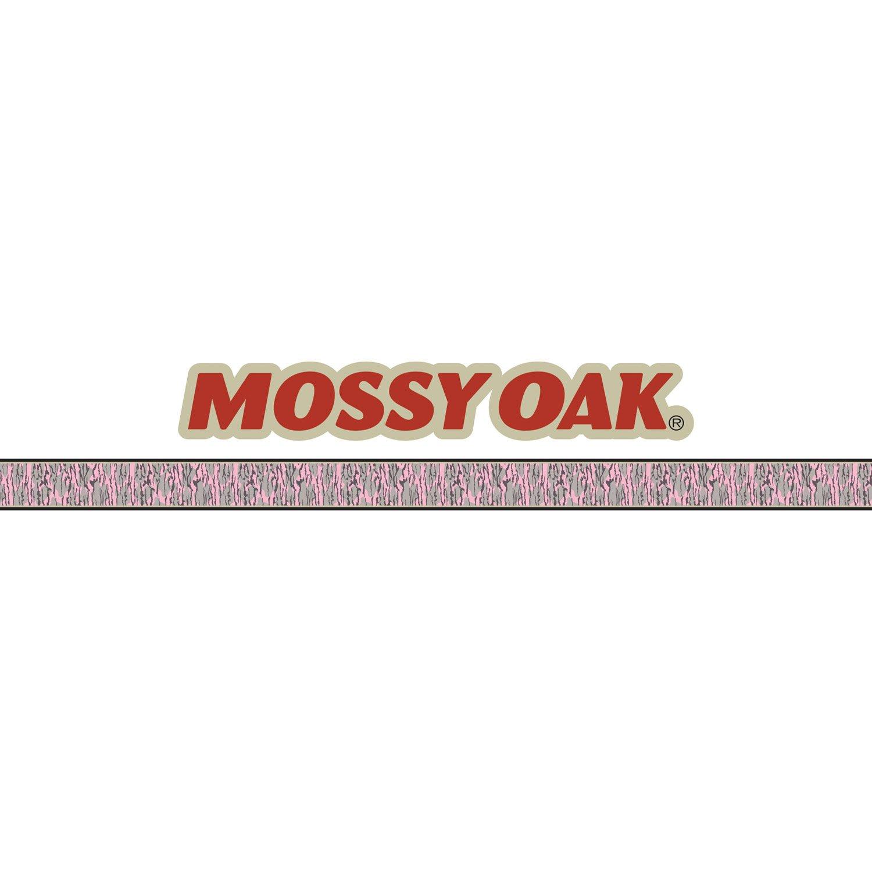 Mossy Oak Graphics 10012-BLP Bottomland Pink Mossy Oak Logo with Camouflage Pin Stripe
