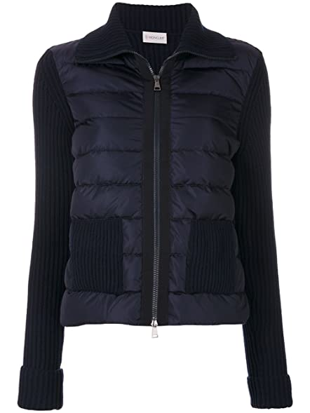 Amazon.com: Moncler Women's Tricot Cardigan Navy Jacket (M): Clothing
