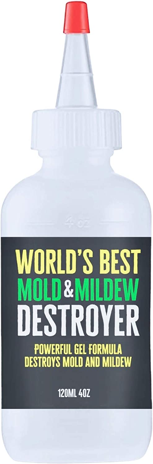 World's Best Mold & Mildew Destroyer for Household Cleaning, Shower Cleaning, Bath Tub Mold & Mildew - Dozens of Uses Anywhere Mold and Mildew Have a Tendency to Grow - 120ml Enough for Two Bathrooms