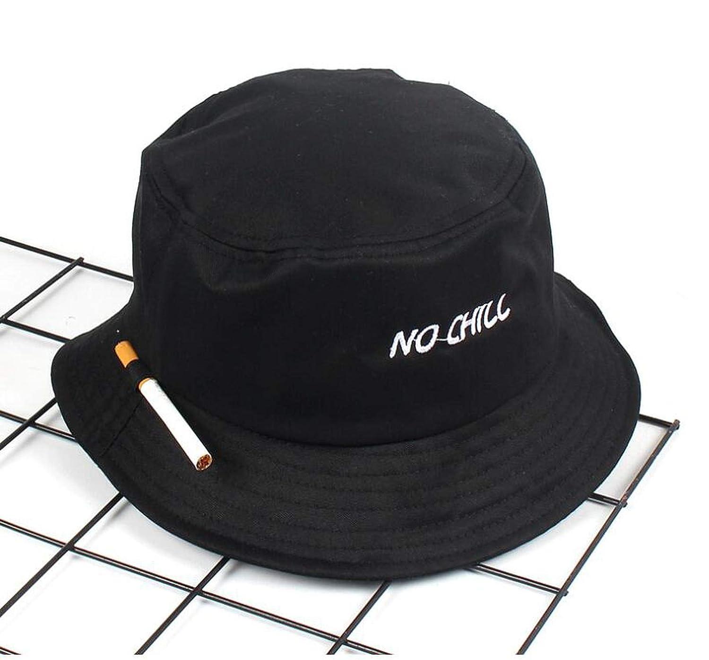 NO CHILL Cigarette Embroidery Bucket hat for Men Women Hip hop Fisherman hat 6d871e4cd6c
