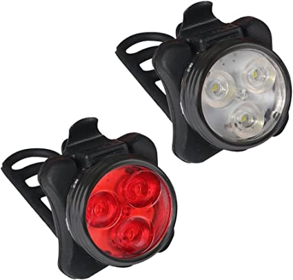 Kit éclairage lumière vélo phare avant arrière led lampe