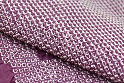 (着物ひととき) 着物 和装 ショール ストール リサイクル 中古 正絹 絞り 紫系 kka8297c