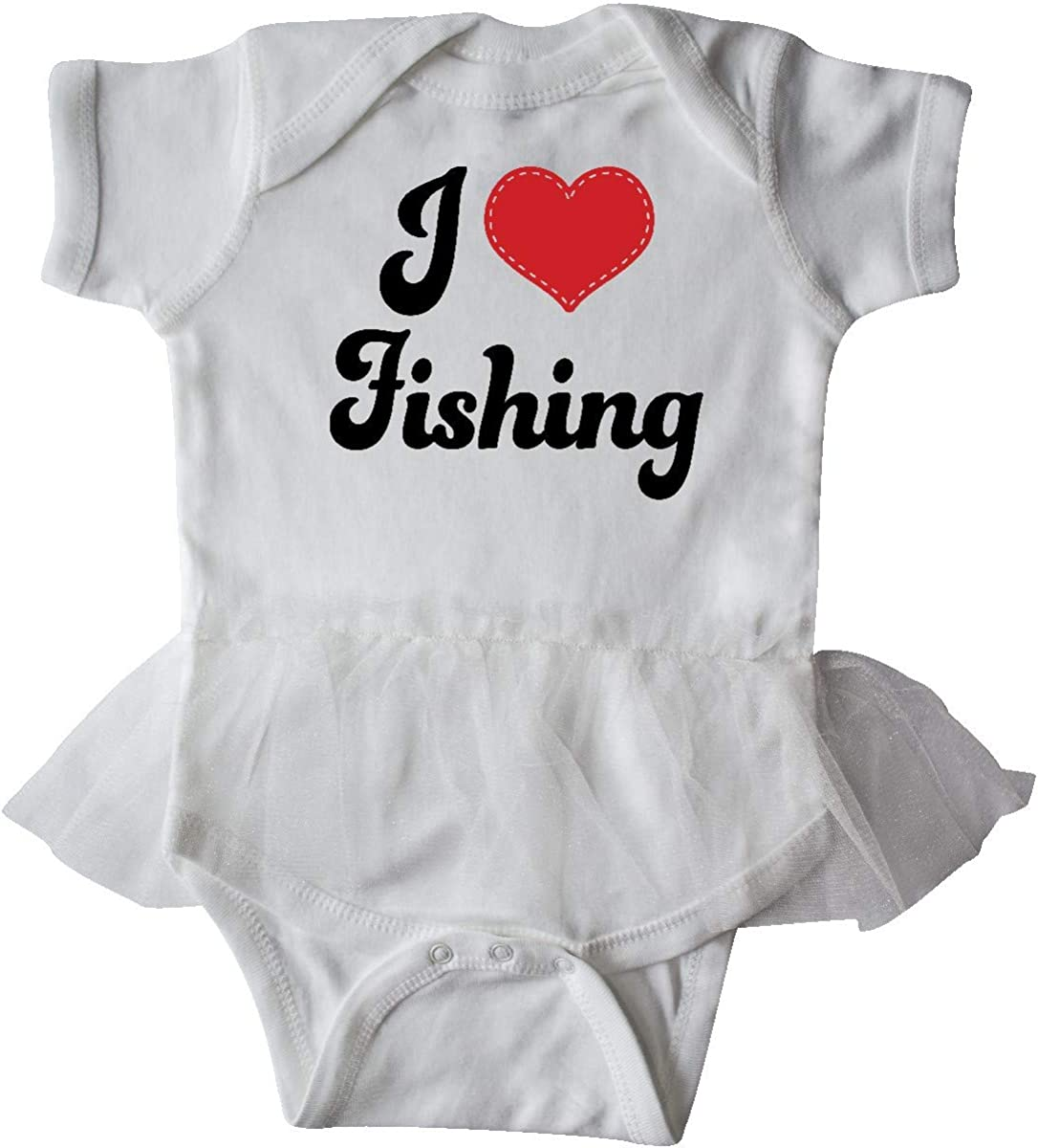 inktastic I Love Fishing Infant Tutu Bodysuit