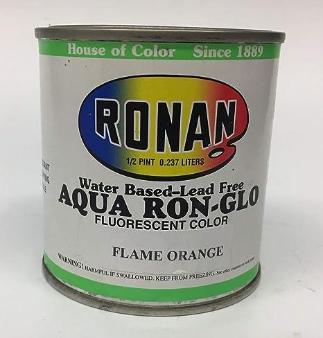 Pintura fluorescente a base de agua RONAN Aqua Ron-GLO - 8 oz ...